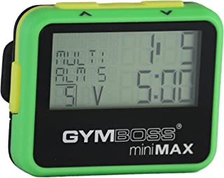 Gymboss miniMAX Interval Timer and Stopwatch - Green/Yellow SOFTCOAT