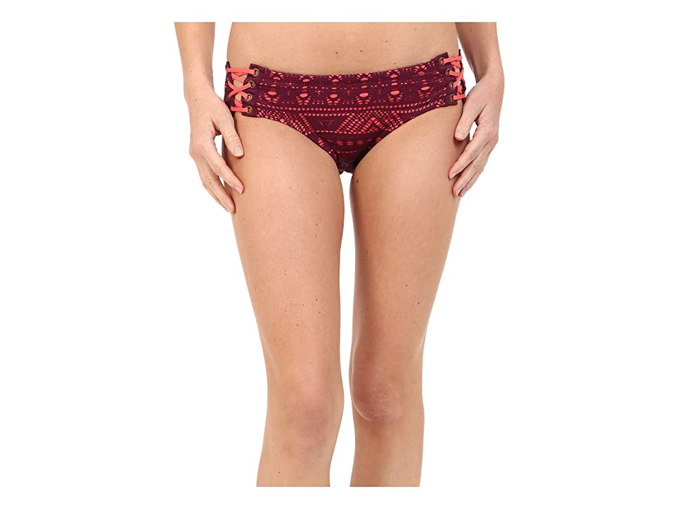 BECCA by Rebecca Virtue La Boheme Lace Side Hipster Bottom (Marsala) Women