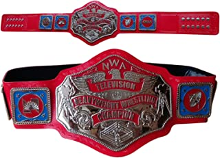 NWA TELEVISION HEAVYWEIGHT CHAMPIONSHIP REPLICA BELT IN THICK BRASS PLATES