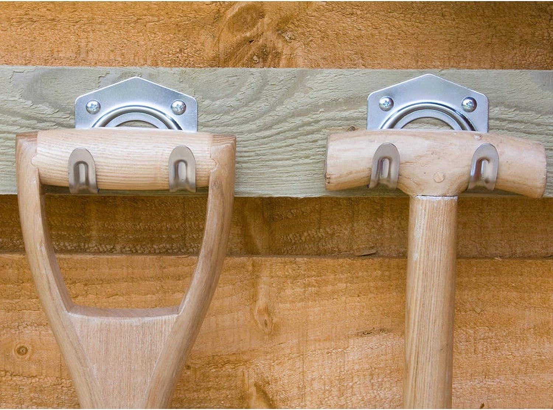 Pack of 25 Wideskall Universal Galvanized Metal Utility Storage Hooks for Garden Tools