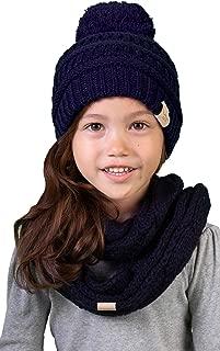 Girls Boys Infinity Scarf Matching Hat Beanie Tail Headwrap Bundle