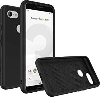 RhinoShield Case for Google Pixel 3 [SolidSuit] | Shock Absorbent Slim Design Protective Cover with Premium Matte Finish [3.5M/11ft Drop Protection] - Classic Black