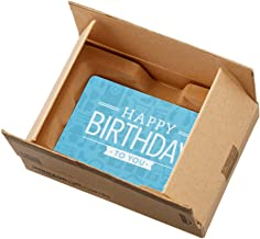 Amazon.com Gift Card in a Mini Amazon Shipping Box (Happy Birthday Icons Card Design)