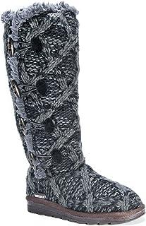 حذاء نسائي مرن من MUK LUKS أنيق، أسود، 7 متوسط أمريكي