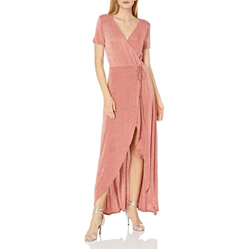 STYLE STATE Blush Floral Wrap Dress Size 10 12 /& 14