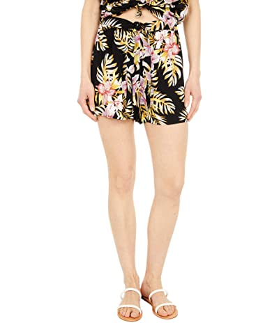 Volcom Forget Yoself Shorts (Black Floral Print) Women