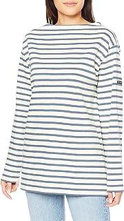 [セントジェームス] Tシャツ 2501ボーダー 生成り/インディゴブルー LADIES M-L [並行輸入品]