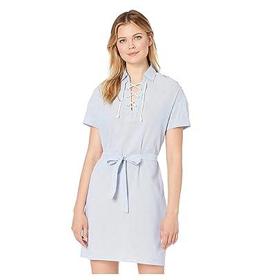 U.S. POLO ASSN. Stripe Embroidered Poplin Dress (Agean Blue) Women