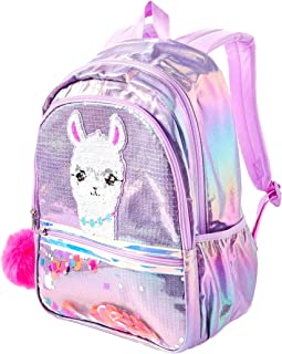 Justice No Drama Llama Sequin Shaky Backpack
