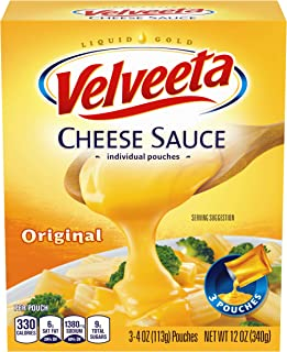 Velveeta Original Cheese Sauce, 12 Ounce bag contains 3.4 Ounce pouches