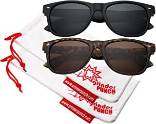 Men's Polarized Sunglasses - Flat Matte Frames