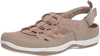 حذاء رياضي نسائي رياضي من Easy Street، جلد أسمر فاتح، عرض 6.5
