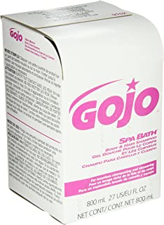 GOJO 800 Series SPA BATH Body and Hair Shampoo, 800 mL SPA BATH Refill for