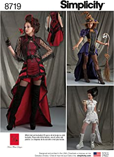 Simplicity 8719 Women's Gothic Steampunk Costume Sewing Patterns Sizes, 6-14