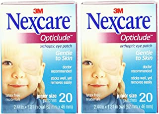 Nexcare Opticlude Orthoptic Eye Patches, Junior Size, 20-Count (Pack of 2)