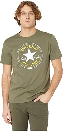Converse spliced leopard chuck patch short sleeve crew tee