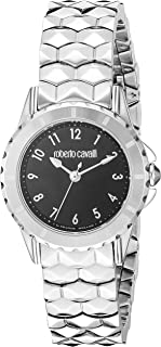 ROBERTO CAVALLI Women's Swiss Quartz Watch with Stainless Steel Strap, Silver, 14 (Model: RV1L049M0076)