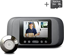 Eques Digital Door Viewer - LCD Security Camera Monitor Video Record Photo Shooting (No Night Vision, No PIR Motion Sensor)