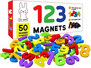 123 Magnetic Numbers - 50 Magnetic Numbers - Ideal for Number Sequencing & Learning - Made from Non-Toxic material with fu...