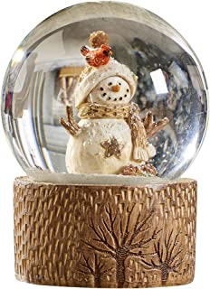 Gift Craft Rustic Snowman 4 x 5 Inch Resin and Glass Christmas Water Snow Globe
