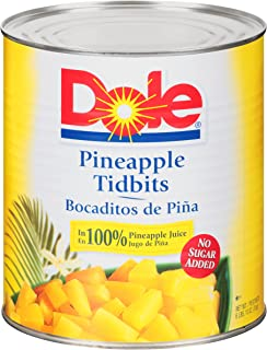 Dole Pineapple Tidbits in Juice 100 oz, Pack of 6