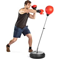 Tech Tools Boxing Ball Set with Punching Bag, Boxing Gloves, Hand Pump & Adjustable Height Stand...