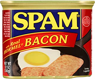 Spam with Real Hormel Bacon, 12 Ounce Can