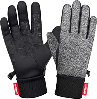 LANYI Winter Gloves Touchscreen Windproof Thermal Liner Gloves Running Outdoor Cycling Driving Thin Gloves for Men Women