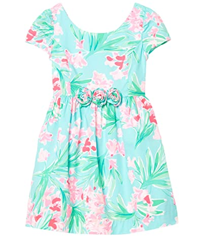Lilly Pulitzer Kids Momoa Dress (Toddler/Little Kids/Big Kids) (Aqua AL Fresco Isnt She Lovely) Girl