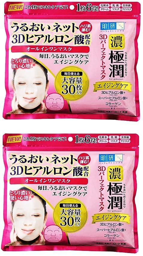 アカデミック祝福するドラマ【まとめ買い】肌研(ハダラボ)極潤 3Dパーフェクトマスク 30枚 (350mL) × 2個