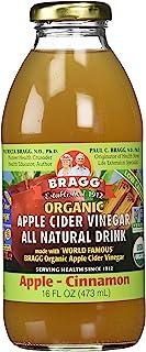 Bragg Organic Apple Cinnamon Apple Cider Vinegar Drink,16 Ounce -- 12 per case.