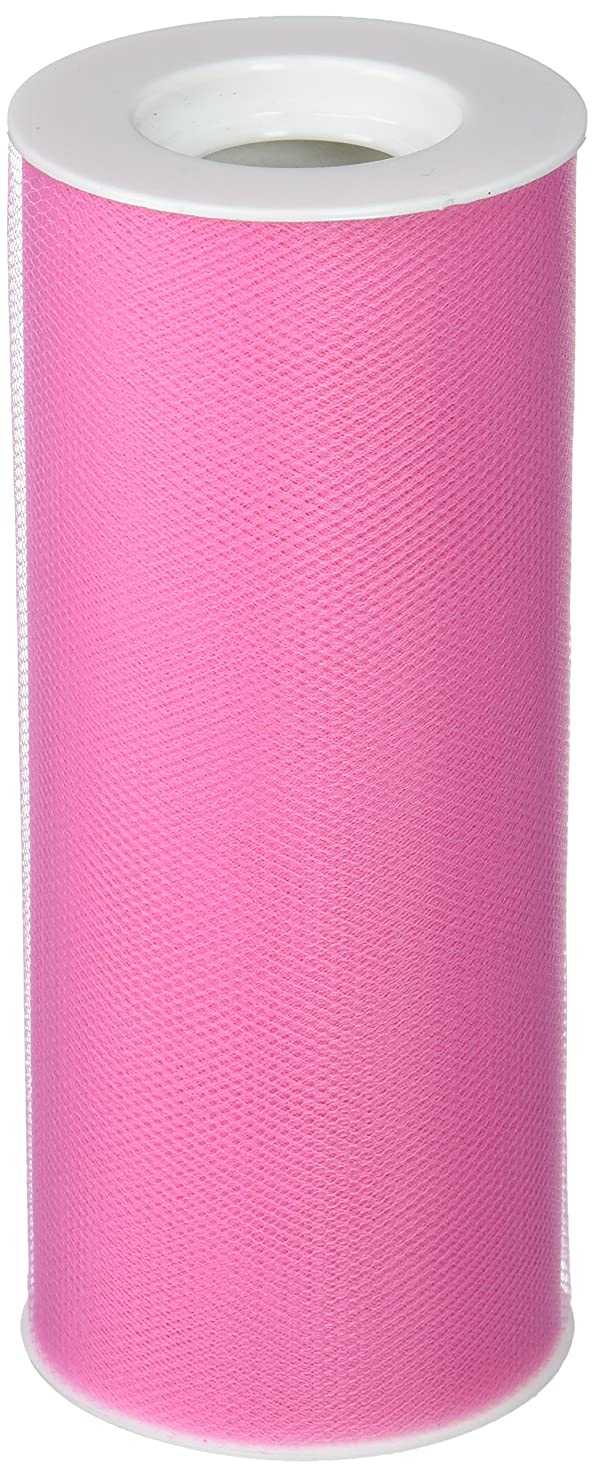 Creative Ideas 6-Inch by 25 Yards (75 Feet), White 29 Colors Available, Hot Pink