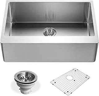 Houzer ENS-3020 Epicure Series Apron Front Single Bowl Kitchen Sink, Stainless Steel