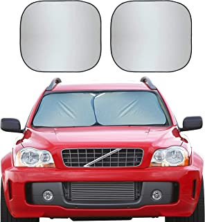 EcoNour Foldable 2-Piece Premium Car Windshield Sunshade | UV Protector Automotive Window Sunshades | Fit for Cars, SUVs, ...