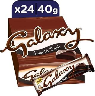 Galaxy Smooth Dark Chocolate Bars, 40g x 24