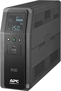 APC by Schneider Electric UPS, 1500VA Sine Wave UPS Battery Backup & Surge Protector, BR1500MS2 Backup Battery with AVR, (...