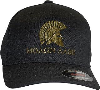 Bang Bang Apparel Men`s `Molon Labe` Embroidered Flexfit Baseball Cap