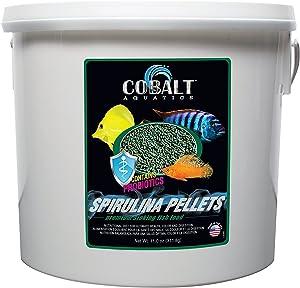 Cobalt Aquatics Spirulina Fish Food Sinking Pellets with Probiotics