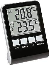 TFA Dostmann Palma draadloze zwembadthermometer, antraciet, L 100 x B 100 x H 180 mm