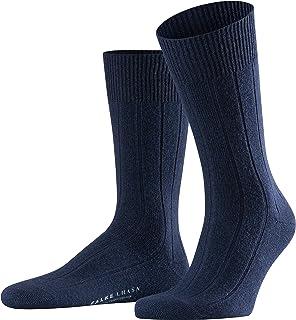 FALKE Men's Lhasa Rib Socks Merino Wool Cashmere Black Grey More Colours Warm Thick Light Calf Sock With Rib For Winter Ca...