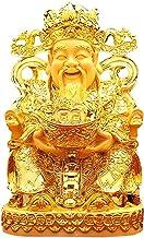 Feng Shui Gift Sculpture Ornament, Cai Shen Fengshui Beeldje, God van Fortuin Chinese Charme van Welvaart Woondecoratie Gi...