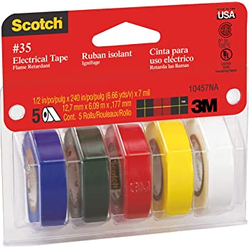 "2 Rolls Genuine Scotch 3M Vinyl PVC Electrical Tape 33 1-1//2 in X 44 Ft X .007/"""