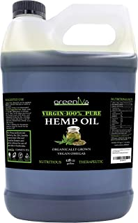 GreenIVe - Hemp Oil - Anti-Inflammatory - Vegan Omegas - Cold Pressed - Exclusively on Amazon (128 Ounce (1 Gallon))