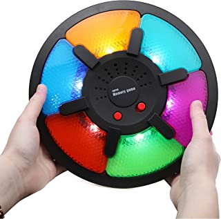 Top Right Toys Deluxe 6 Pattern Light Up Memory Game to Follow with Lights and Different Sounds for Each Color Brainy Game for Kids Boys and Girls