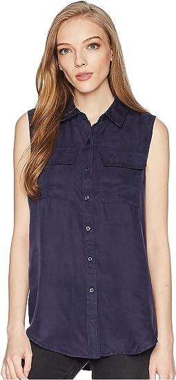 Sleeveless Button-Up Shirt