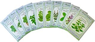 Renee's Garden - Basil Lover's Bonanza Seeds Collection - 10 Seed Packets - Ten Different Varieties of Basil Seeds for Your Culinary Herb Garden - Premium Seeds