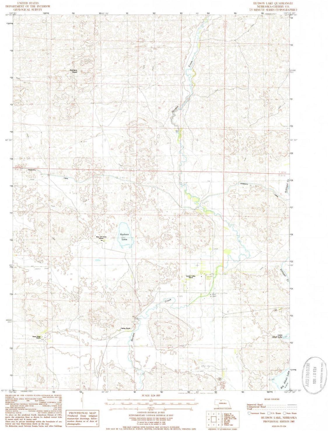 YellowMaps Hudson Lake free shipping NE topo map Special price Scale X Min 7.5 1:24000