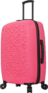 "Mia Toro Mia Toro Italy Modeled Art Mozaic Hard Side Spinner Luggage 28"", Magenta (Multi) - M1704-28IN-MAGNN"