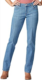 Lee Uniforms Women's Relaxed Fit Straight Leg Jean, Inspired Blue, 10