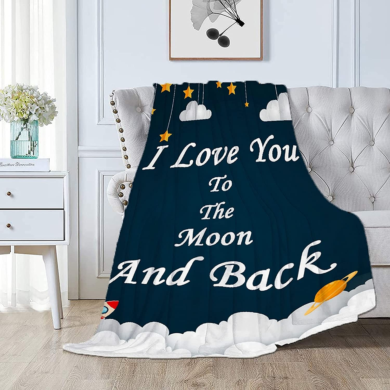Smier Direct I Love You to The Soft Comfy Flannel Moon and 2021 spring and summer new Back Japan's largest assortment